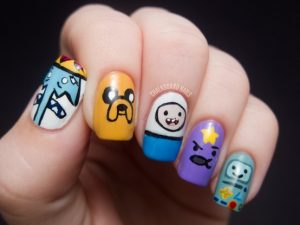 NAIL ART-adventure-time