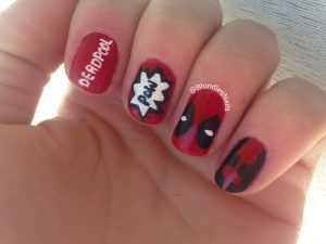NAIL ART-deadpool