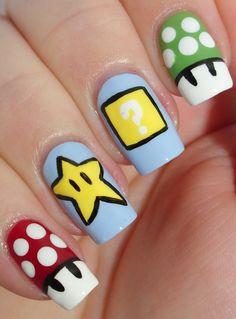 Nail Art-nerd-supermario