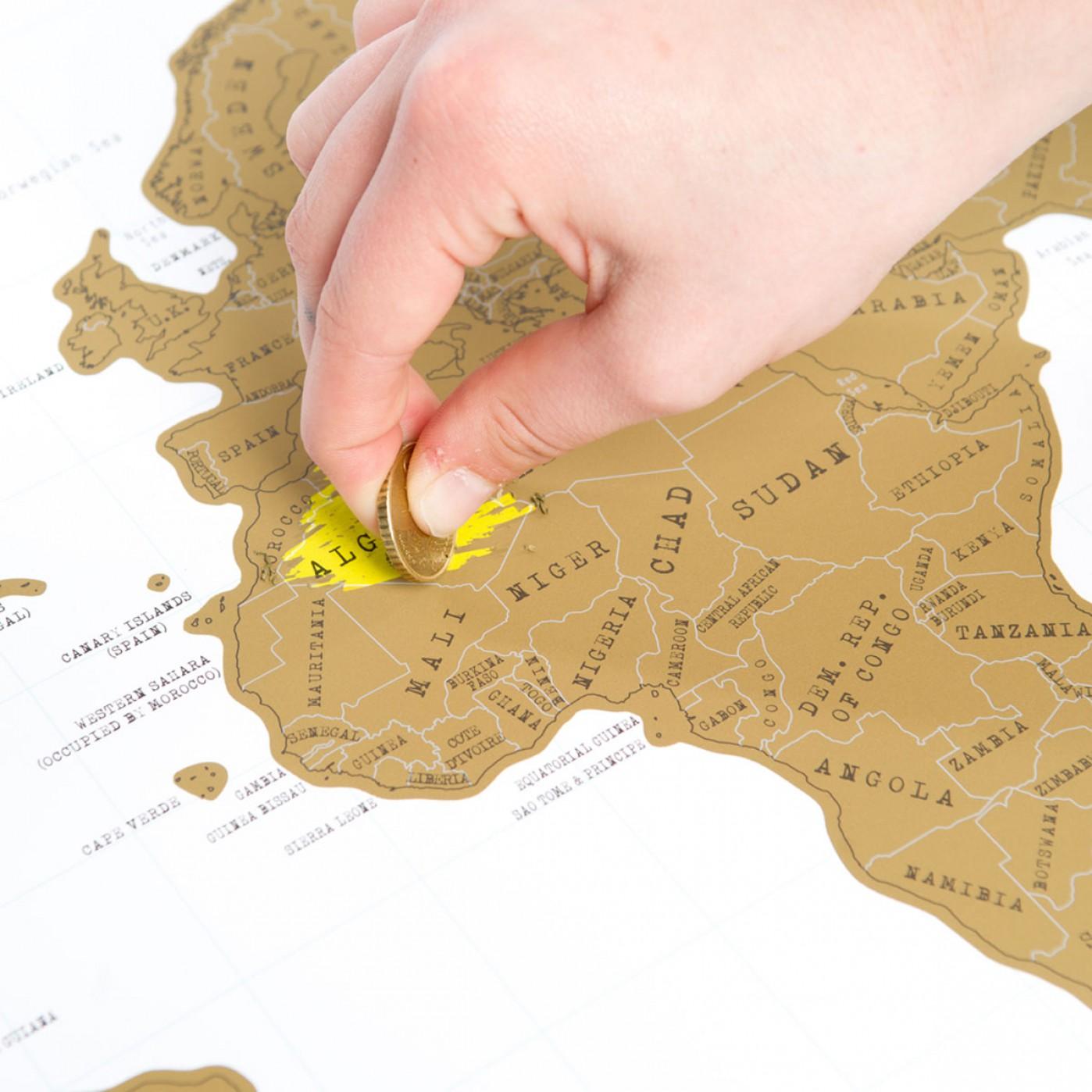 cartina del mondo da grattare regali di san valentino