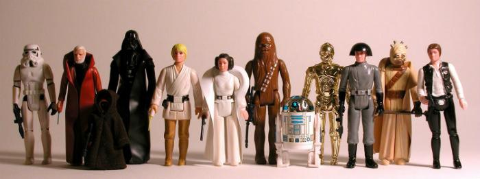 Una delle prime collezioni delle action-figures dedicate a Star Wars