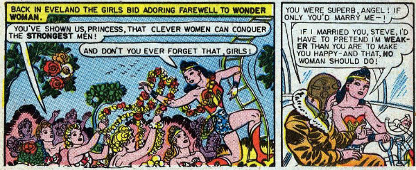 Wonder Woman comic strip