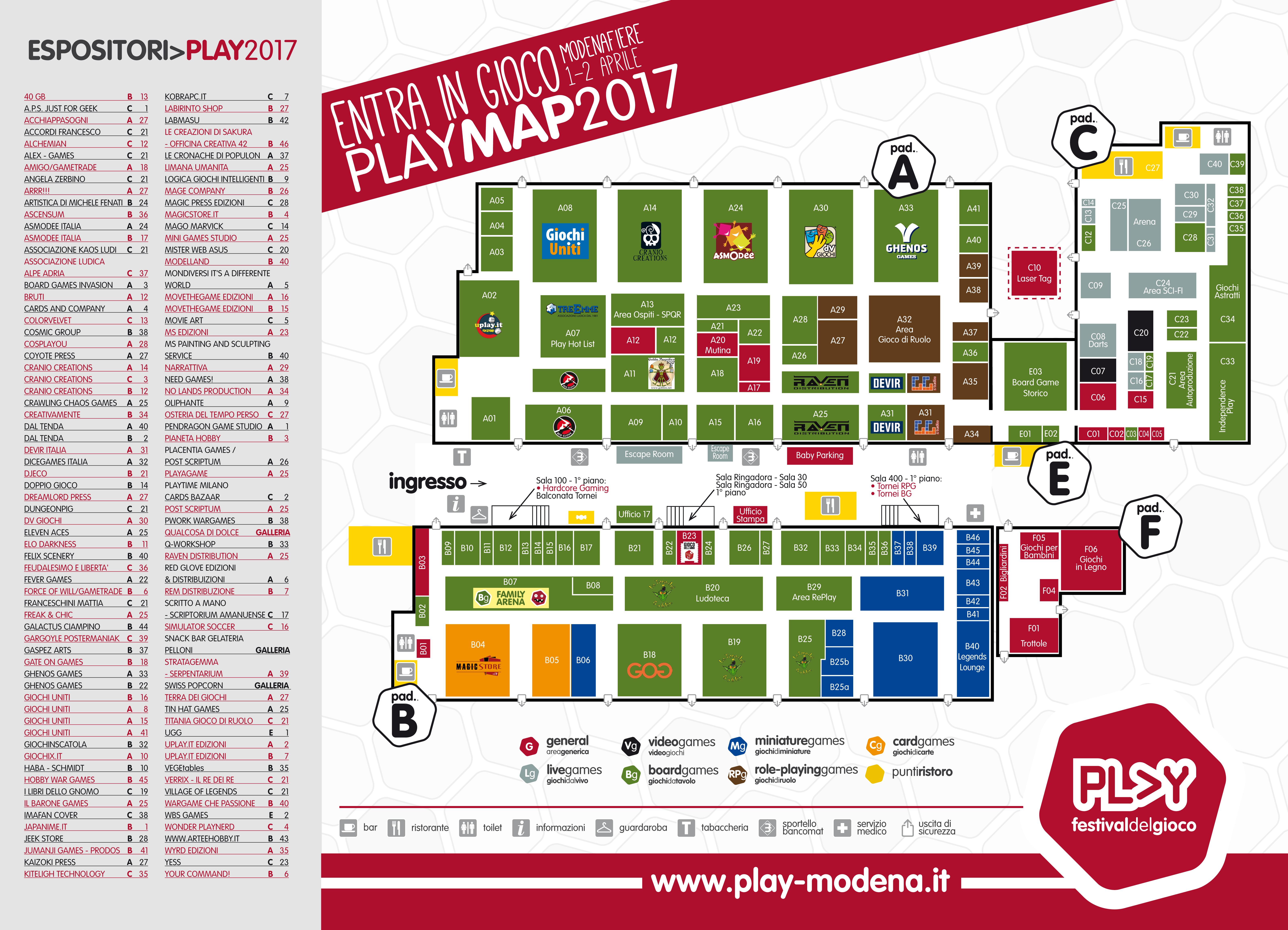 Mappa Play Modena 2017