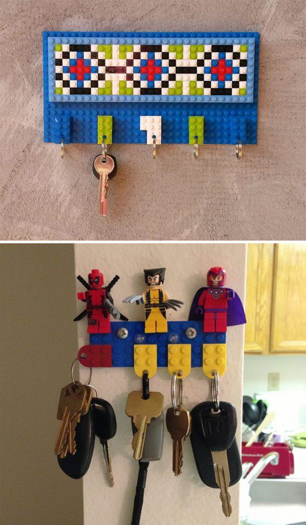 porta chiavi lego