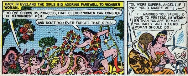 Wonder Woman comic strip