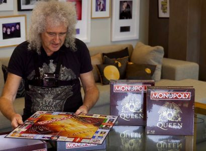 Brian May Unboxing Monopoly