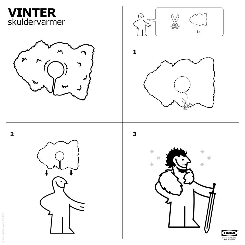 Mantello Ikea Jon Snow