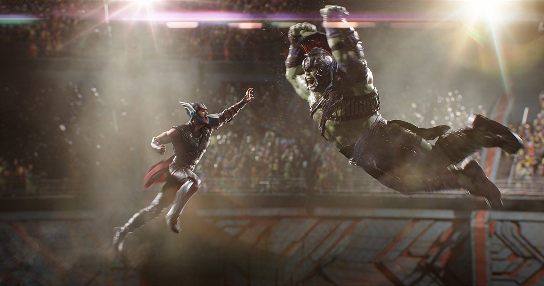 Thor Ragnarok thor & Hulk clash